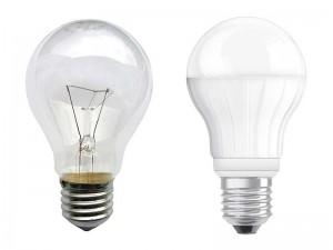 Glhlampe Mit E27 Sockel Und LED Alternative