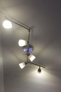Ikea-Leuchte mit Ledare LEDs