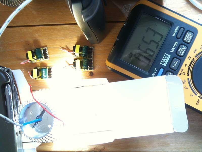 LED-Kühlkörper Test mit Messwerten