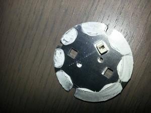 LEDARE LED von innen: Hier der Kühler mit den Chips