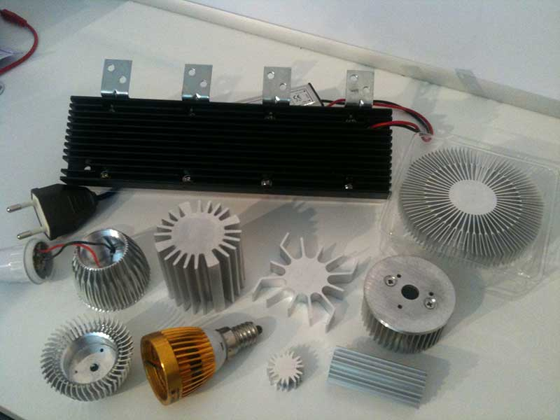 Verschiedene LED-Kühlkörper