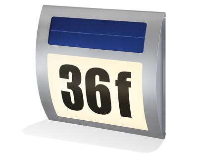 5 verschiedenen Hausnummernleuchten im Test