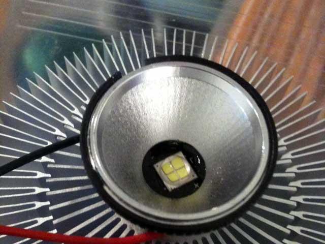 Reflektor auf LED statt Linse