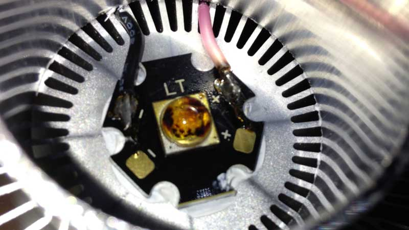LED Hitzetod, überhitzung