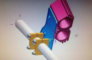 CAD-Modell der LED-Kartlampe